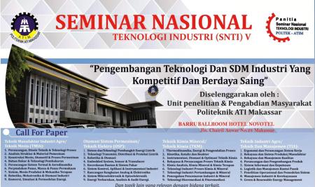 Seminar Nasional Teknologi Industri (SNTI) V 2017