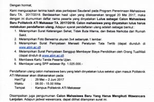 Pengumuman Jalur Umum Politeknik ATI Makassar001_001
