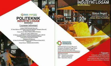 Penerimaan Mahasiswa Baru Politeknik Industri Logam Morowali Tahun AJaran 2017/2018