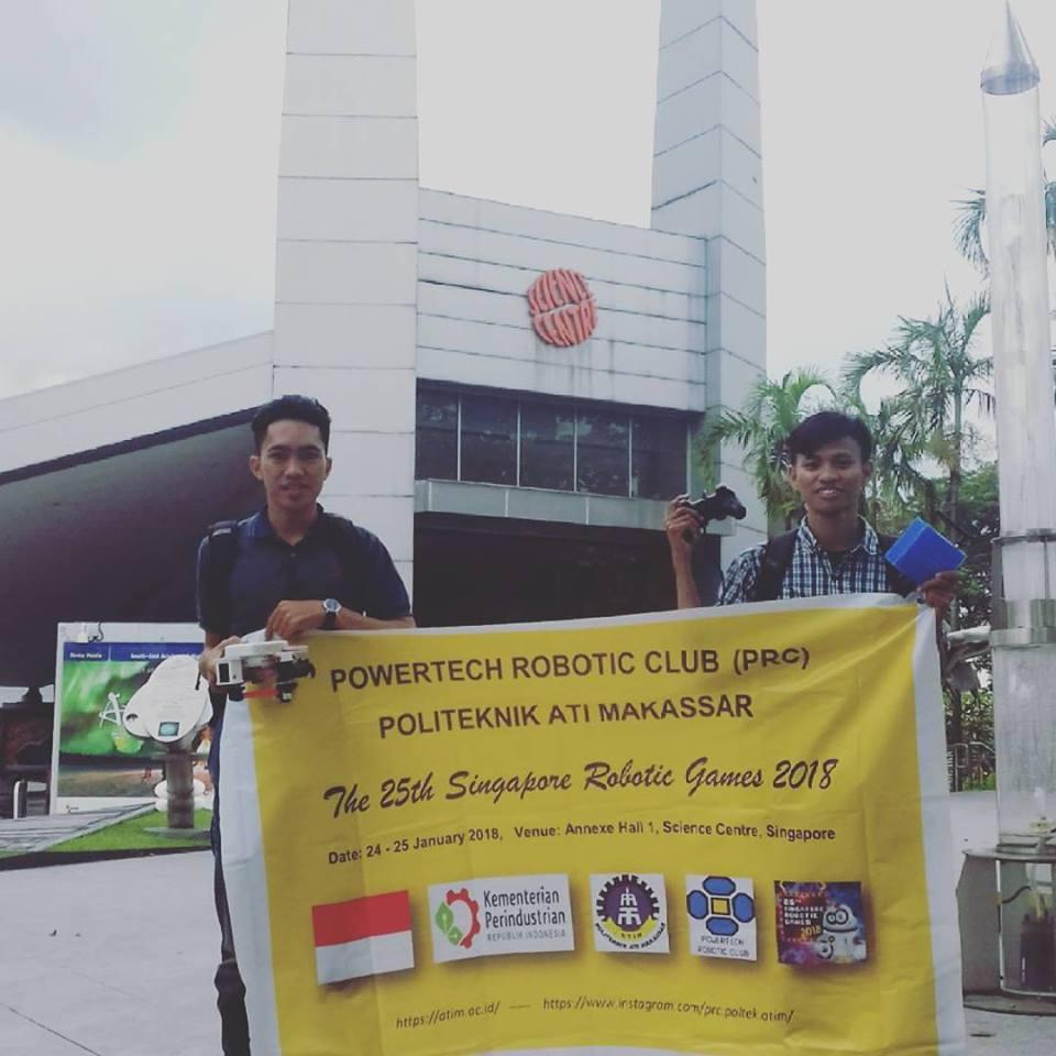 Tim PRC Politeknik ATI Makassar mengikuti Singapore Robotic Games 2018