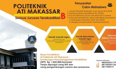 Penerimaan Calon Mahasiswa Baru Tahun Akademik 2018/2019 Gelombang Ke-2