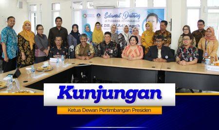 Ketua Dewan Pertimbangan Presiden Apresiasi Politeknik ATI Makassar