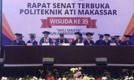 Gelar Wisuda ke 35, Politeknik ATI Makassar Cetak 425 Wisudawan