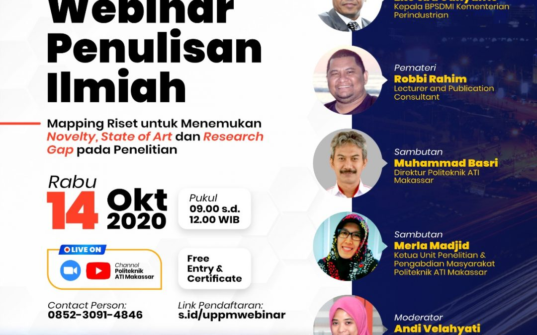 Webinar Teknik Penulisan Ilmiah di Politeknik ATI Makassar