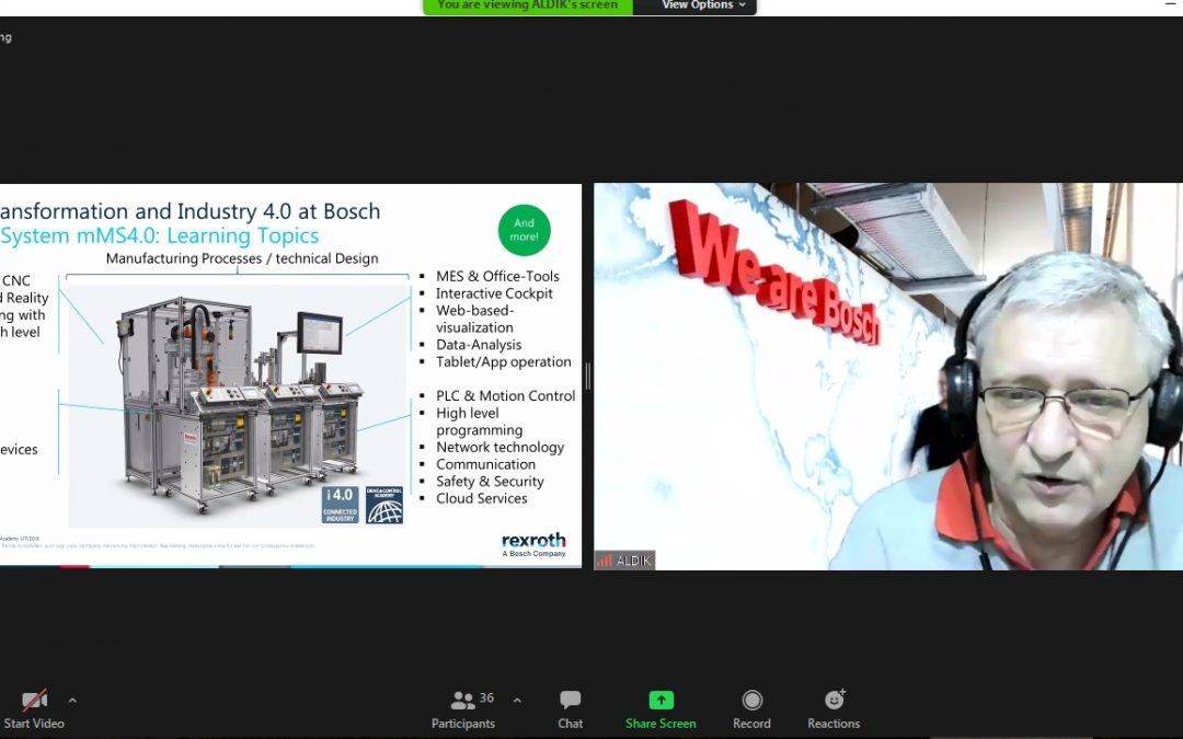 PT ALDIK Sejahtera Bersama dan Bosch Rexroth Sharing Informasi Teknologi 4.0 di Poltek ATIM