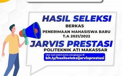 Pengumuman Hasil Seleksi Berkas Jarvis Prestasi Politeknik ATI Makassar TA 2021/2022