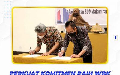 Penandatanganan Piagam Zona Integritas Seluruh Pegawai Politeknik ATI Makassar
