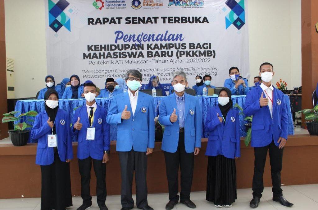 Gelar PKKMB 2021, Politeknik ATI Makassar Sambut 312 Mahasiswa Baru